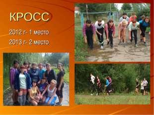 КРОСС 2012 г- 1 место 2013 г- 2 место