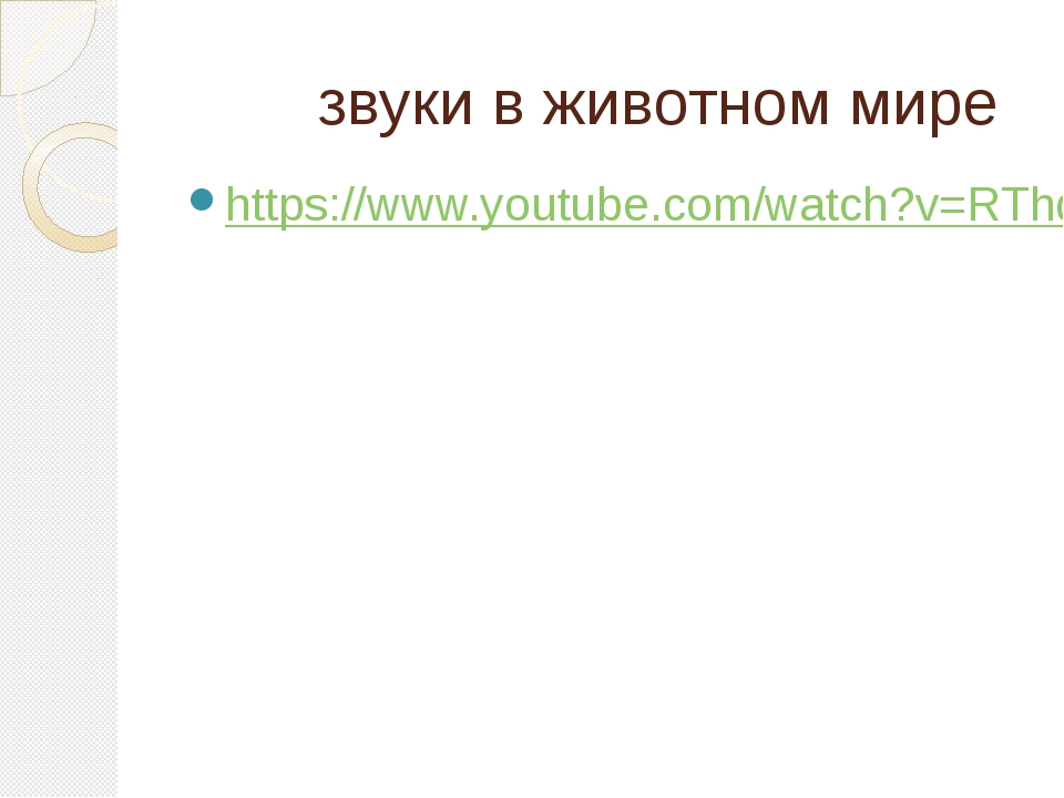 звуки в животном мире https://www.youtube.com/watch?v=RThdvvWgrhQ