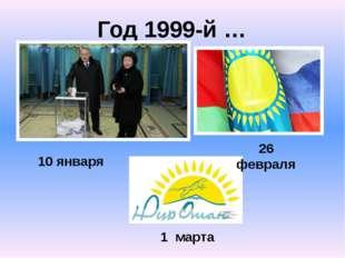 Год 1999-й … 10 января 1 марта 26 февраля