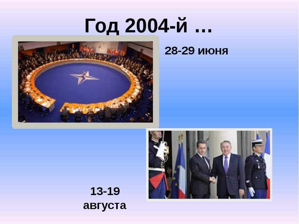 Год 2004-й … 28-29 июня 13-19 августа
