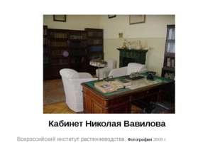 Кабинет Николая Вавилова Всероссийский институт растениеводства. Фотография 2