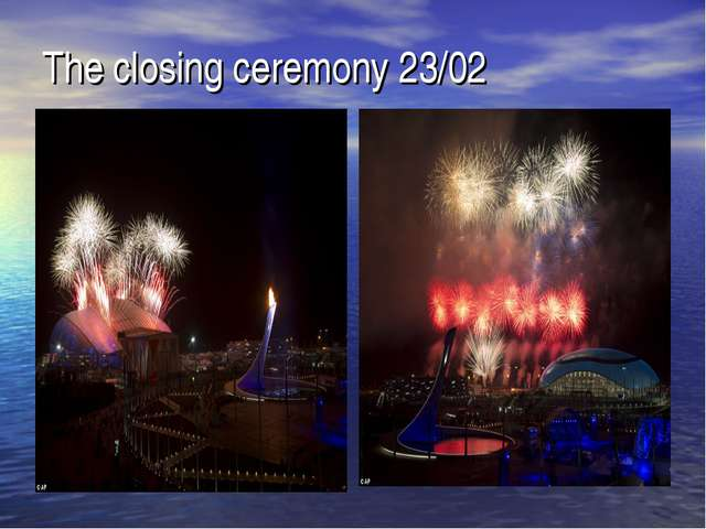 The closing ceremony 23/02