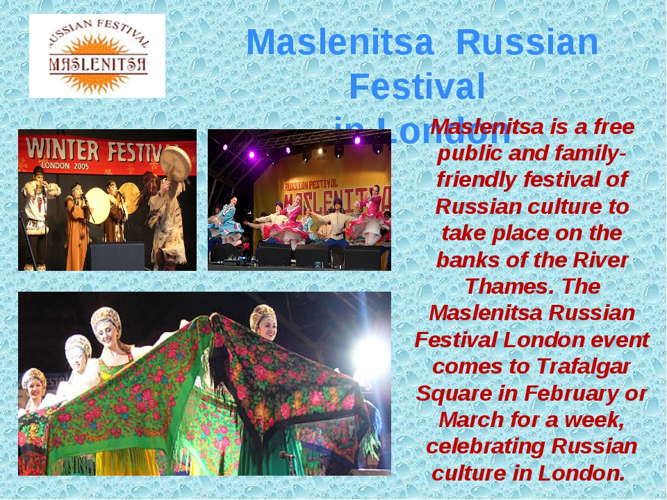 Maslenitsa Russian Festival in London Maslenitsa is a free public and family-...