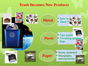 Trash Becomes New Products