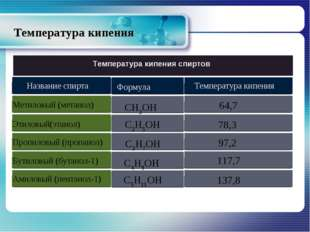 Температура кипения