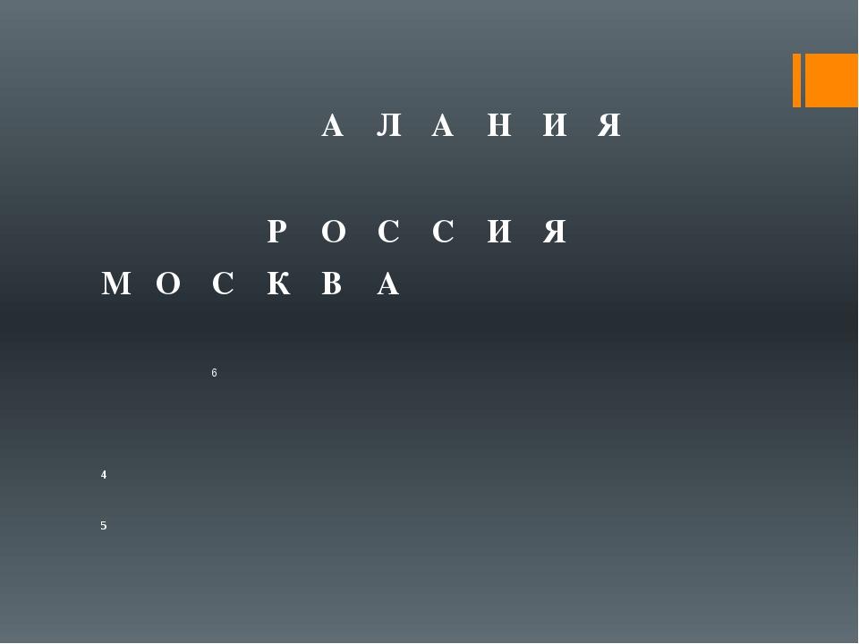 А Л А Н И Я Р О С С И Я М О С К В А 6 4 5