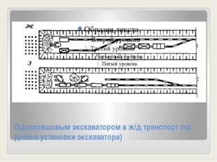 Одноковшовым экскаватором в ж/д транспорт (на уровне установки экскаватора)