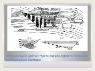 Схема вскрытия рабочих горизонтов при отработке нагорного месторождения панел