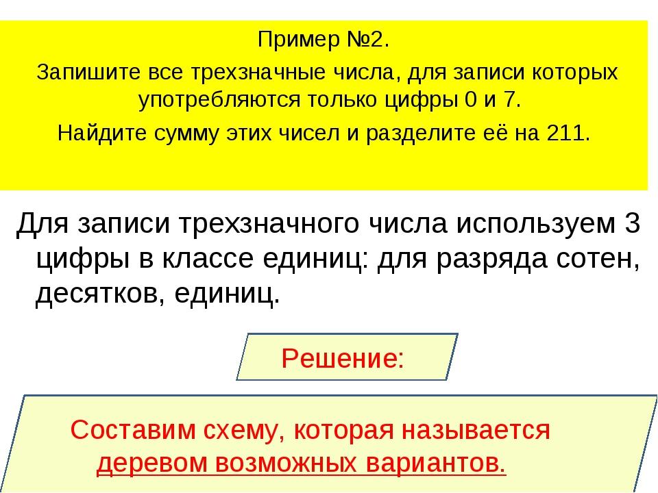 Решение: Для записи трехзначного числа используем 3 цифры в классе единиц: дл...