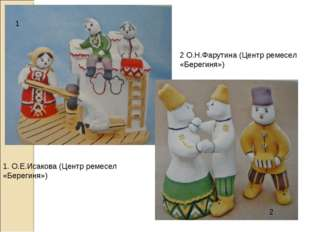 1 2 1. О.Е.Исакова (Центр ремесел «Берегиня») 2 О.Н.Фарутина (Центр ремесел «