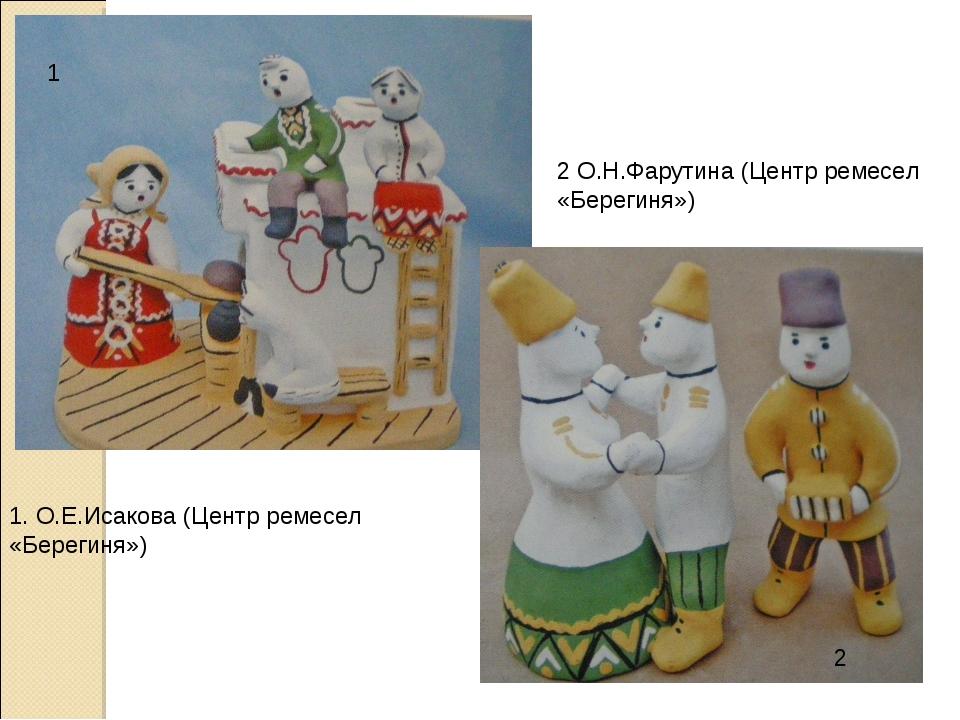 1 2 1. О.Е.Исакова (Центр ремесел «Берегиня») 2 О.Н.Фарутина (Центр ремесел «...