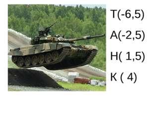 Т(-6,5) А(-2,5) Н( 1,5) К ( 4)