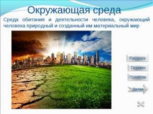 Окружающая среда Среда обитания и деятельности человека, окружающий человека