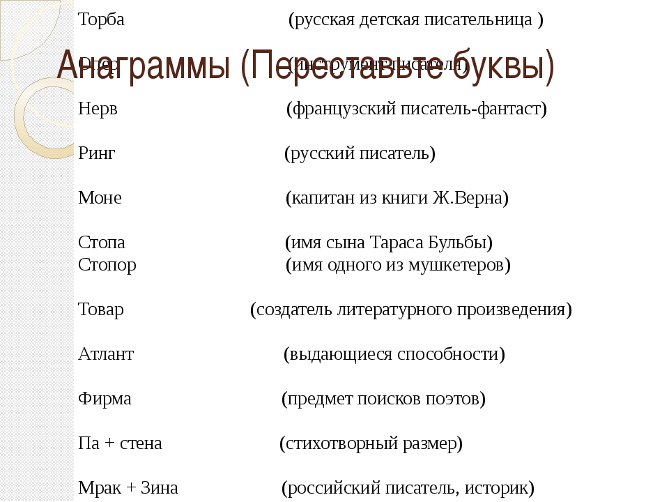 Феод (английский писатель) Торба (русская детская писательница ) Опер (инстру...