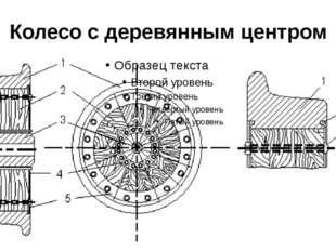 Колесо с деревянным центром