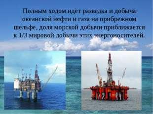 Полным ходом идёт разведка и добыча океанской нефти и газа на прибрежном шел