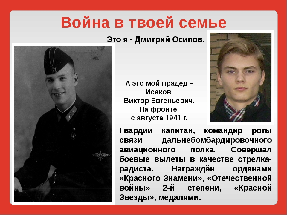Война в твоей семье Это я - Дмитрий Осипов. Гвардии капитан, командир роты св...