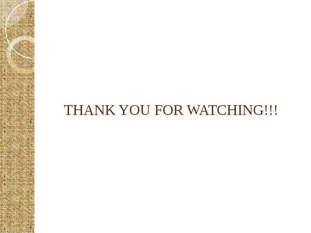 THANK YOU FOR WATCHING!!!