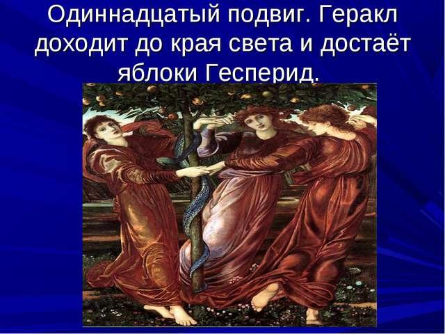 Одиннадцатый подвиг. Геракл доходит до края света и достаёт яблоки Гесперид....