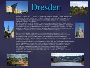 Dresden Moderne Dresden ist in 19 Bezirke mit getrennten Bereiche unterteilt.