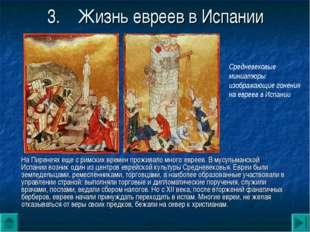 3.Жизнь евреев в Испании На Пиренеях еще с римских времен проживало много ев