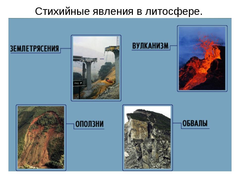 Какие стихийные явления связаны с особенностями рельефа