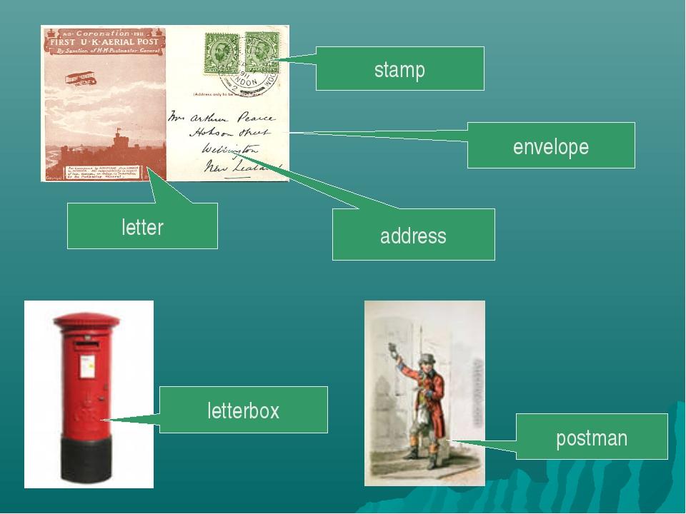 envelope address stamp letterbox postman letter