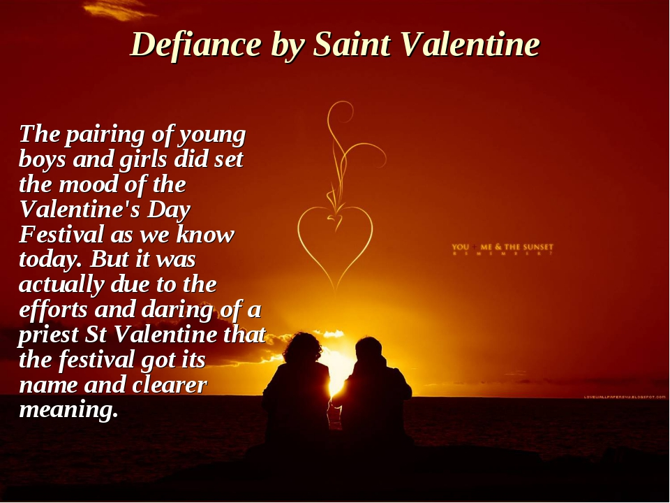 Defiance by Saint Valentine The pairing of young boys and girls did set the m...