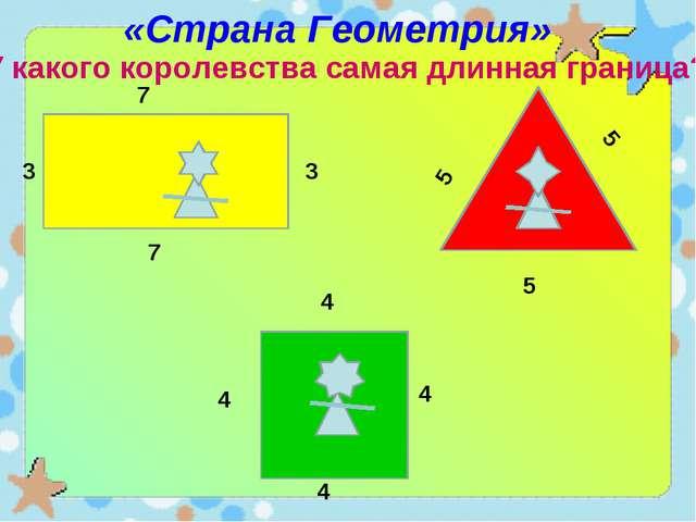 «Страна Геометрия» У какого королевства самая длинная граница? 5 5 5 4 4 4 4...