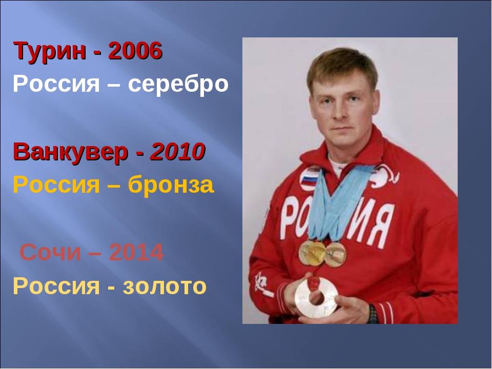 Турин - 2006 Россия – серебро Ванкувер - 2010 Россия – бронза Сочи – 2014 Рос...