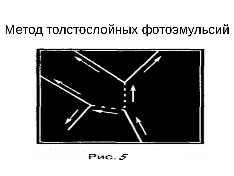 Метод толстослойных фотоэмульсий