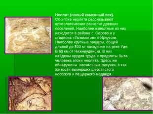 Неолит (новый каменный век). Об эпохе неолита рассказывают археологические ра