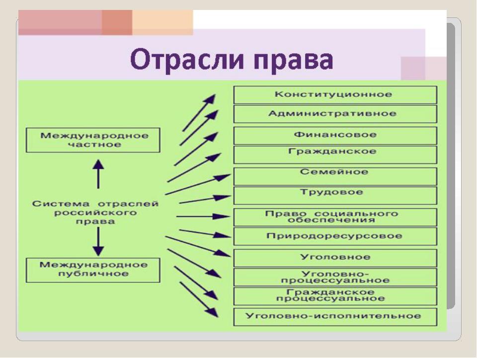 права классификация. .шпаргалка 70. понятие и отрасль