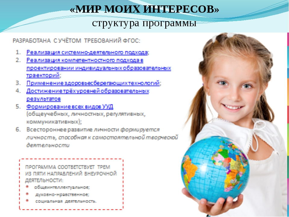 «МИР МОИХ ИНТЕРЕСОВ» структура программы