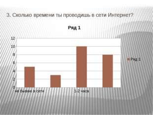 3. Сколько времени ты проводишь в сети Интернет?