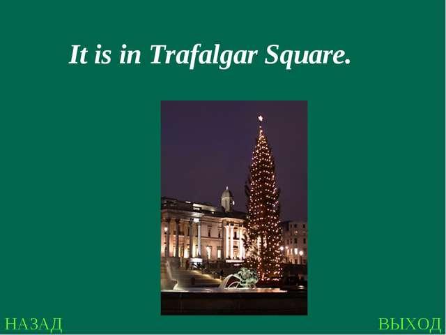 НАЗАД ВЫХОД It is in Trafalgar Square.