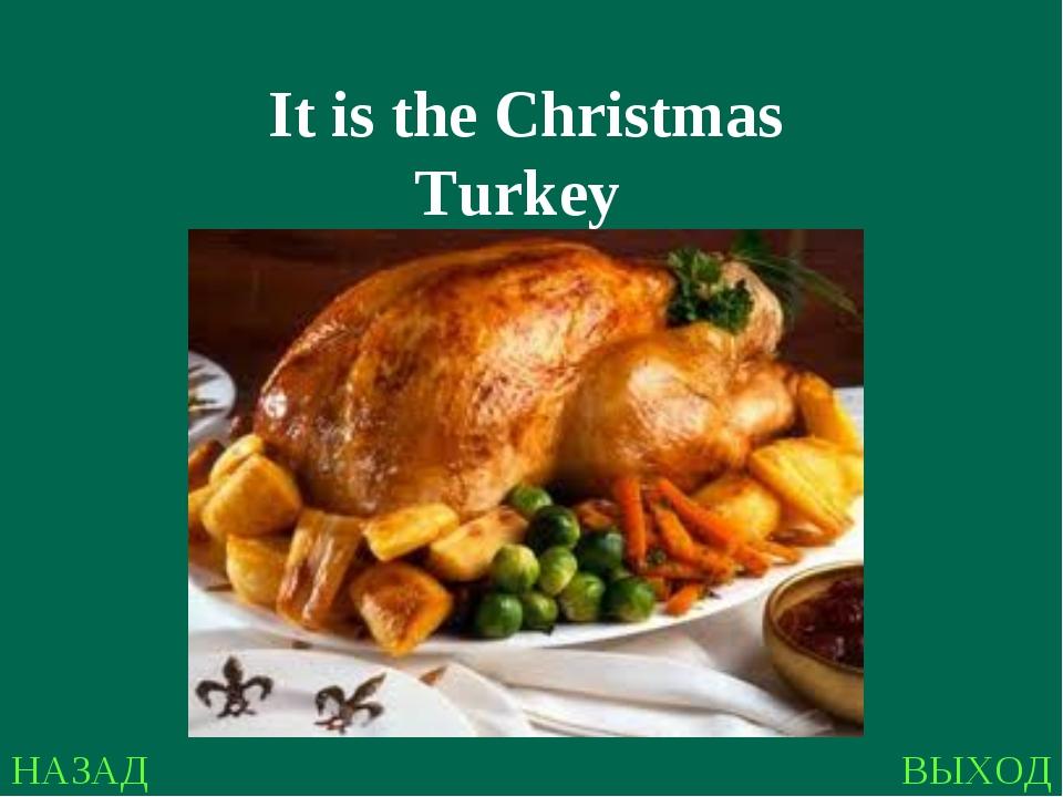 НАЗАД ВЫХОД It is the Christmas Turkey