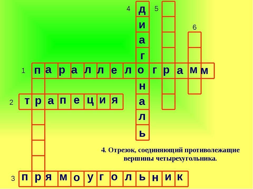 1 2 3 4 5 6 6. Параллелограмм, у которого все стороны равны. п а р а л л е л...