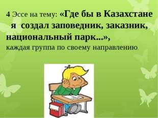 4 Эссе на тему: «Где бы в Казахстане я создал заповедник, заказник, националь