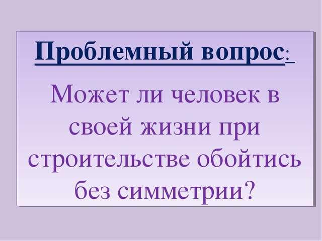 Проблемный вопрос: Может ли человек в своей жизни при строительстве обойтись...