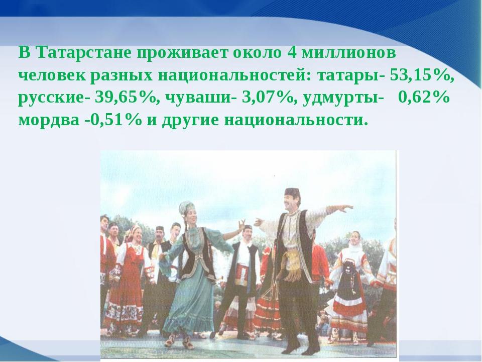 В Татарстане проживает около 4 миллионов человек разных национальностей: тата...