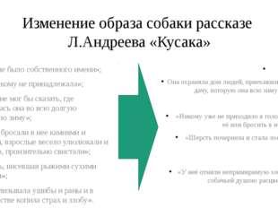 Изменение образа собаки рассказе Л.Андреева «Кусака» «У неё не было собственн