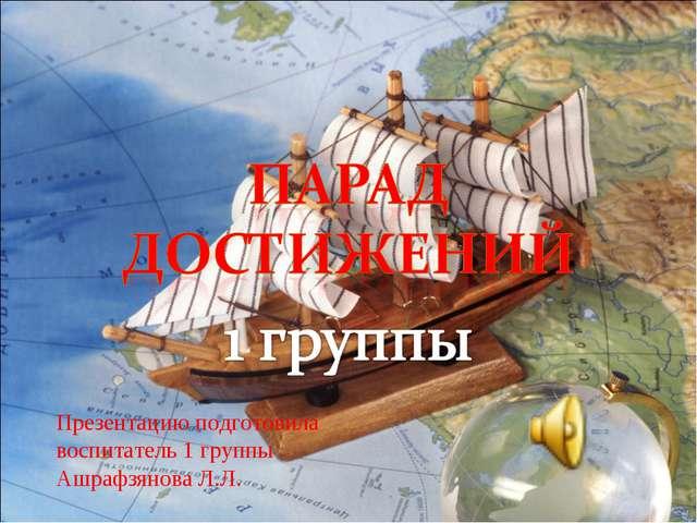 Презентацию подготовила воспитатель 1 группы Ашрафзянова Л.Л.