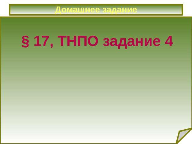 Домашнее задание § 17, ТНПО задание 4