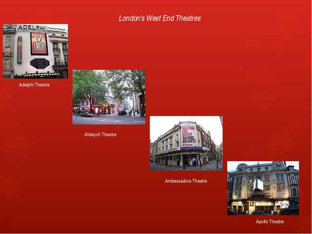 London's West End Theatres Adelphi Theatre Aldwych Theatre Ambassadors Theatr...