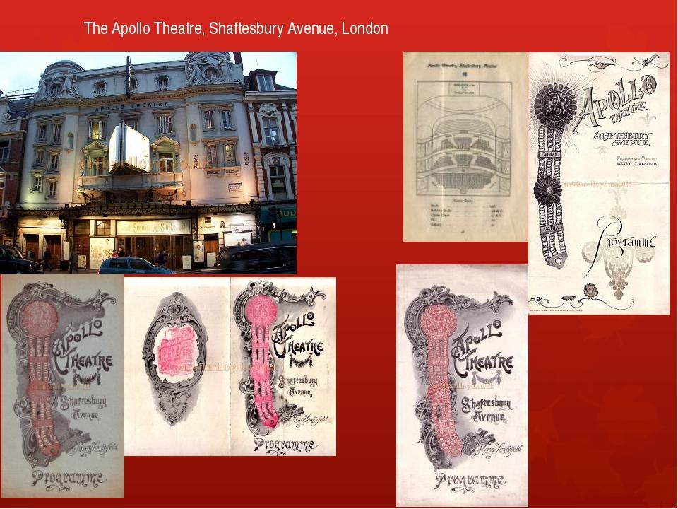 The Apollo Theatre, Shaftesbury Avenue, London