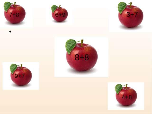7+8 6+9 3+7 8+8 9+7 4+8