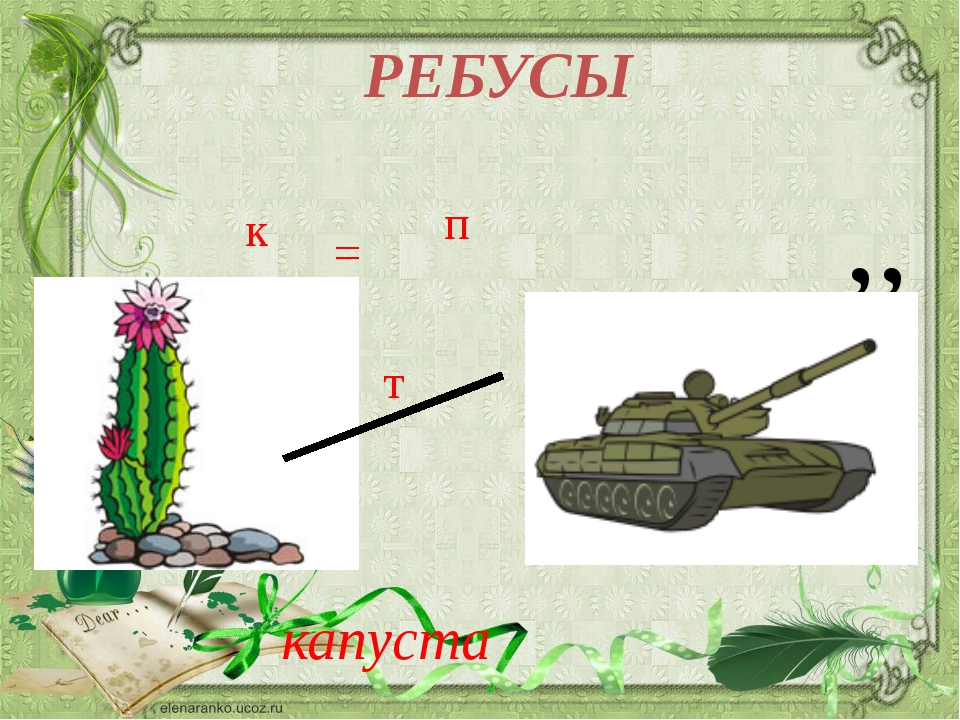 ,, т к = п РЕБУСЫ капуста