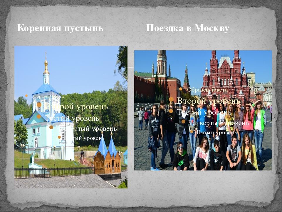 Коренная пустынь Поездка в Москву