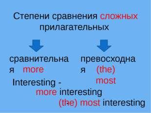 Степени сравнения сложных прилагательных сравнительная превосходная more (the